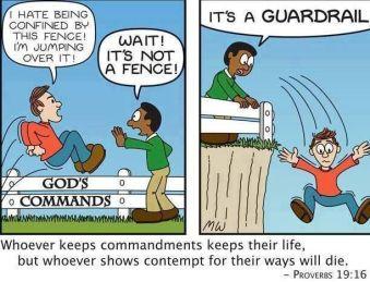 commandments as gaurdrial