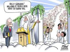 billy graham goes to heaven